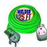 8/3 Welder Extension Cord 25 ft 10,000 Watts Nema 6-50 250-Volt Welder Extension Cord 8 Gauge Lighted end Welder Extension Cord 50 amp Welding Extension Cord 25 ft 6/3 Plug