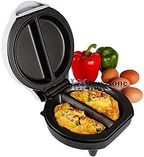 Quest 700 W Antiadherente Eléctrico Omelette Maker Sartén Cocina Huevo Máquina Hierro Fundido Negro 26,5 x 23 x 26,5 cm