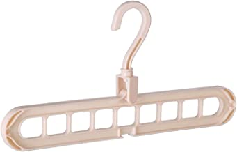 Hanger Hanger Clip Storage Box Closet Organizer Space-Saving Multi-Port Hanger Plastic Scarf Drying Rack (Color : Light Pink)