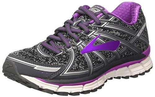 Brooks Women's Adrenaline Gts 17 Running Shoes, Grey (Metallic Charcoal/black/purple Cactus Flower) - 5 UK
