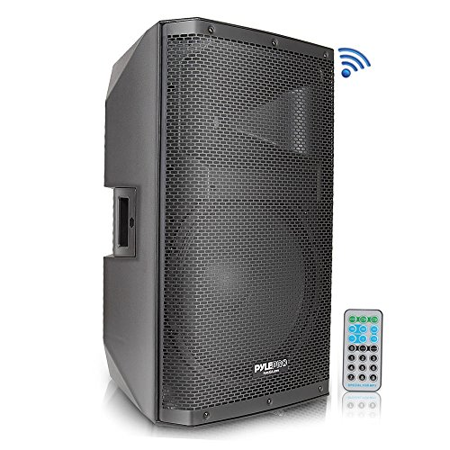 """Bluetooth PA Monitor Speaker System - 1400 Watt Max 2 Way Indoor Outdoor Stage Loudspeaker w/ 15 Inch Subwoofer, 1.75"""" Tweeter, 38mm Stand Mount Support, XLR - For DJ Party On-Stage - Pyle PADH15BTA"""