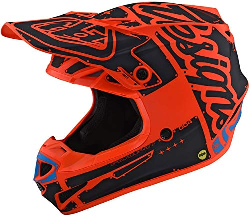 Troy Lee Designs SE4 Polyacrylite Factory Motocross Helm Orange M (57/58)