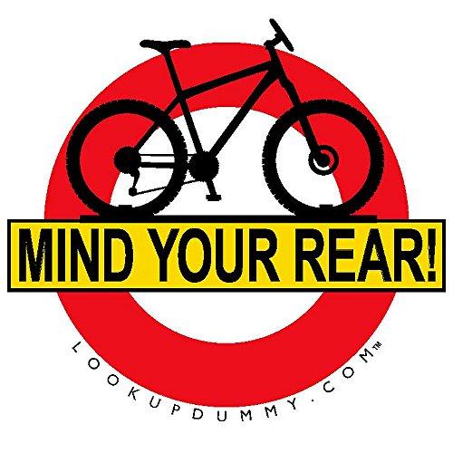 Mente su parte trasera – 2 para 1 venta. Sistema de advertencia y recordatorio de parabrisas trasero para bicicleta – un adhesivo extraíble y reutilizable para ventana – ¡protege tu coche y estante de daños