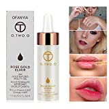 Ofanyia 24k Rose Gold Elixir Skin Makeup Oil Beauty Oil Essential Oil Before Foundation Primer Moisturizing Face Oil