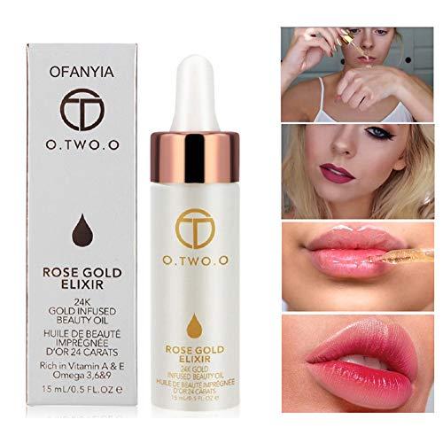Hanyia 24k Rose Gold Elixier Haut Make-up Öl ätherisches Öl vor Foundation Primer