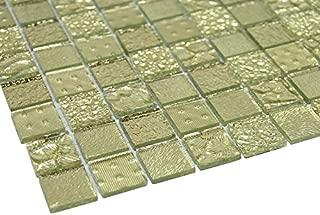 Glossy Gold Raindrop Modern Square Glass Mosaic Tiles for Bathroom and Kitchen Walls Kitchen Backsplashes