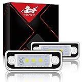 WinPower LED Luce targa 3 SMD Luce targa Led 6000K Xenon Bianco Con Canbus Senza errori Compatibile con Benz Mercedes W203 5D W211 R171 W219,2 Pezzi