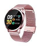 Smartwatch per Android iOS,Bluetooth Orologio Intelligente IP67 Impermeabile Cardiofrequenzimetro Pedometro Fitness Tracker Chiama Promemoria Smart Watch per Uomo Donna Bambini (Rose Gold)