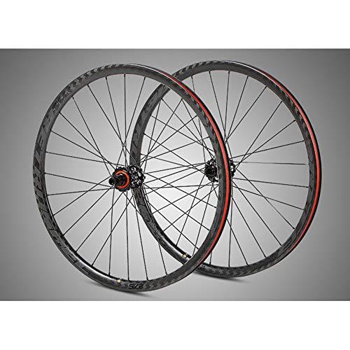 BIKERISK VTT vélo de Montagne Roue en Fibre de Carbone fixé 27,5' 29' axe Cercle VTT Baril de...