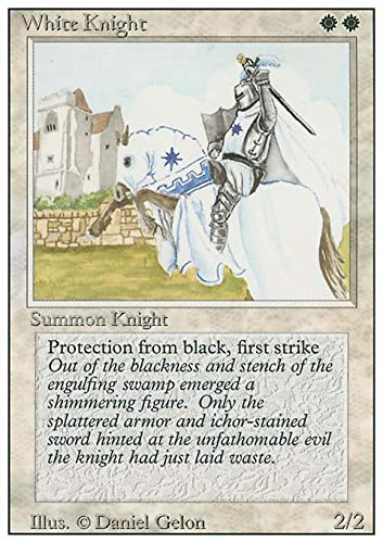 Magic The Gathering - White Knight - Cavaliere Bianco - Revised Edition