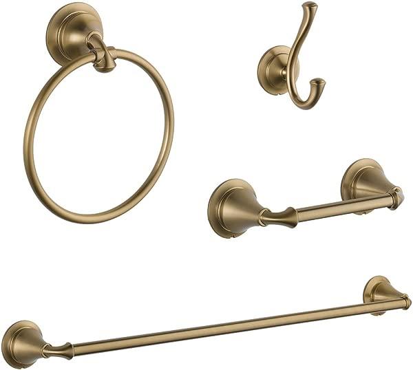 Delta KA LIN 4 CZ Linden 4 Piece Accessory Kit Champagne Bronze