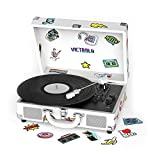 Victrola Canvas 3-Speed Bluetooth Portable Suitcase Record Player with Built-in Speakers | Dual Bluetooth Connectivity |...
