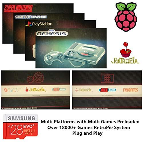 RetroPie SD Card 128GB for Raspberry Pi 3 B+ with 18000+ Gam