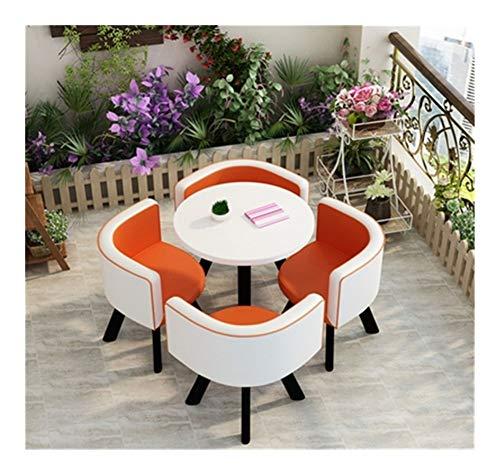 TXOZ - Q. Sofá de 5 piezas de café redondo para el hogar, mesa de comedor, fácil recepción, ocio, cuero, oficina, salón