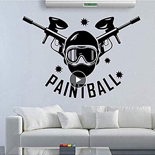 Paintball Wandaufkleber Abnehmbare selbstklebende Wasser Wohnzimmer Schlafzimmer Nordic Style Home Decoration 58cm x 87cm