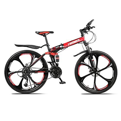 Opvouwbaar Mountain Bikes 24 inch hoog koolstofgehalte Off-Road Bike U voorvork Shock Fietsen voor mannen en vrouwen…