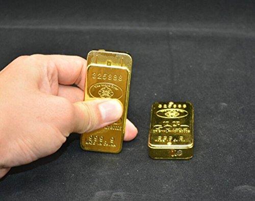 Encendedor de oro individualidad creativa, ultrafina, rueda de molienda de metal, llama a gas, un encendedor
