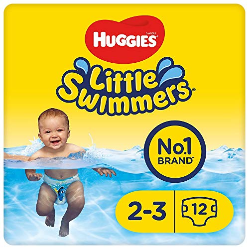 Huggies Little Swimmers Swim Nappies Size 2-3, Designs May Vary, 12 Pants