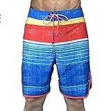 Shadow Pantaloncini Uomo Estivi Pantaloncini da Uomo Elasticizzati ad Asciugatura Rapida con Striscia Orizzontale per Il Surf a Molla Calda 38