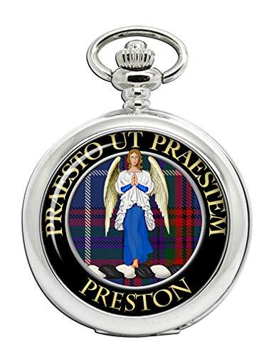 Preston escocés Clan Escudo Full Hunter Reloj de Bolsillo