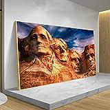 Puzzle 1000 piezas Pintura del monte Rushmore Cuadro de arte del paisaje conmemorativo nacional del presidente de EE. UU. puzzle 1000 piezas adultos Gran ocio vacacional, jueg50x75cm(20x30inch)