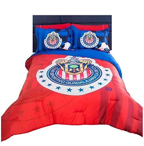 JORGE'S HOME FASHION INC Limited Edition The Best Team Chivas DE Guadalajara License Teens Boys Comforter Set 3 PCS Queen Size