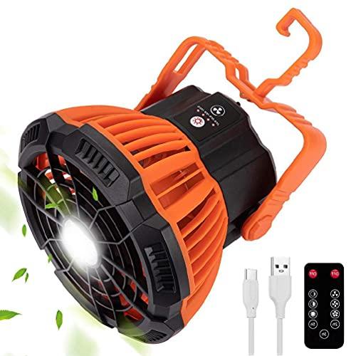 Ventilador de linterna de camping con control remoto por infrarrojos Máquina de refrigeración portátil multifuncional para amigos Familia al aire libre Avtivity Ventilador de camping con pilas