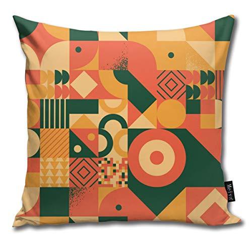 Doormats-shirt Kissenbezug für Sofa, Stuhl, Kinder, Retro, Bauhaus-Stil, Nähte, super weich, elegant, reduziert Allergien, Heimdekoration, 45,7 x 45,7 cm