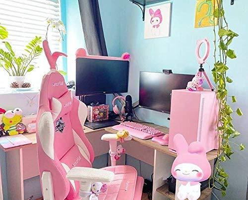 AutoFull Pink Gaming Stuhl für Mädchen Bild 6*