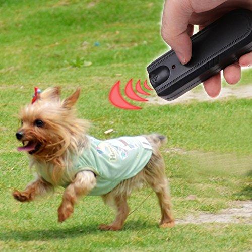 Haven shop Ultraschall-Hundeschreck mit Bellenstopper, tragbar, LED-Ultraschall, Anti-Bellschutz, Anti-Bell-Stopp, für Hunde