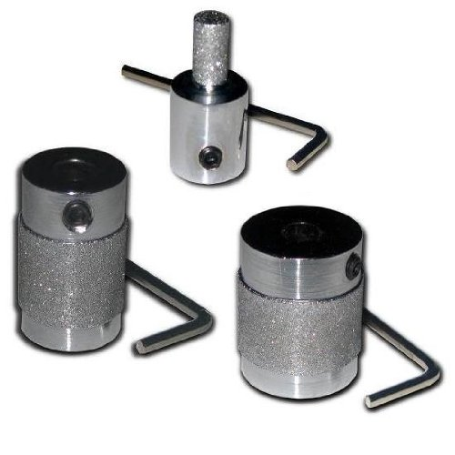 KENT SET OF 3 STANDARD FINE DIAMOND GRINDER BITS, 1 inch, 3/4 inch and 1/4 inch