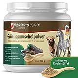 Veddelholzer Natürliches Grünlippmuschelpulver Hund - 500g Grünlippmuschel für Hunde zur Unterstützung der Gelenkfunktionen - Grünlippmuschelextrakt mit Hoher Akzeptanz bei Allen Hunden