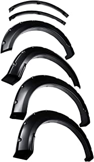 Tyger Auto TG-FF8F4378 for 2018-2019 Ford F150 | Smooth-Textured Matte Black Pocket Bolt-Riveted Style Fender Flare Set, 4 Piece