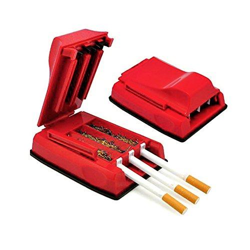 Momola Zigarettenstopfmaschine Zigarettenstopfer Stopfmaschine Stopfer Zigaretten Tabakstopfer 3er Stopfer- Praktisches Raucherzubehör - Erspart Zeit und Arbeit