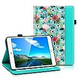 ULAK iPad 6th 5th Generation Case, iPad 9.7 2018/2017 Cases, Premium PU Leather Multi-Angle Viewing Folio Smart Stand Cover for iPad 9.7 inch iPad 5th / 6th Generation, Auto Wake/Sleep (Mint Floral)