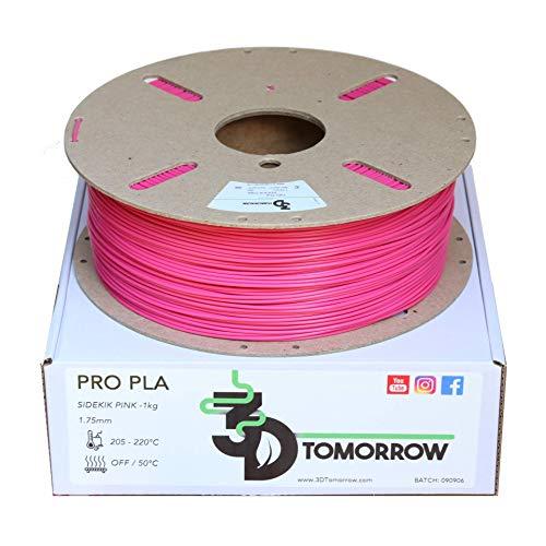 3DTomorrow SideKik Pink Pro PLA Filamento 1,75 mm, bobina de