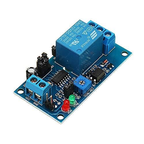 Módulo de relé electrónico Accesorios Módulo normalmente abierto del relé de retardo de activación del temporizador vibración electrónica Junta for el hogar del coche 12V C25
