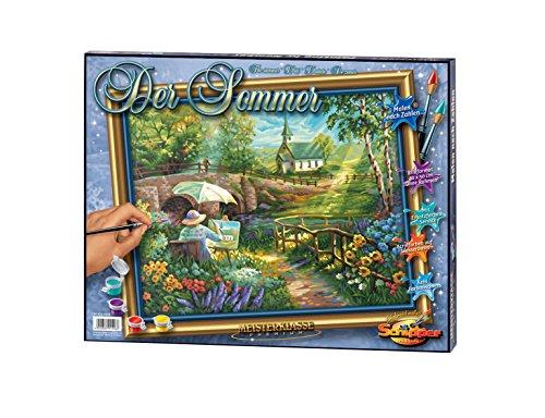 Schipper 609130506 - Malen nach Zahlen - Der Sommer - Bilder malen für Erwachsene, inklusive Pinsel und Acrylfarben, 40 x 50 cm