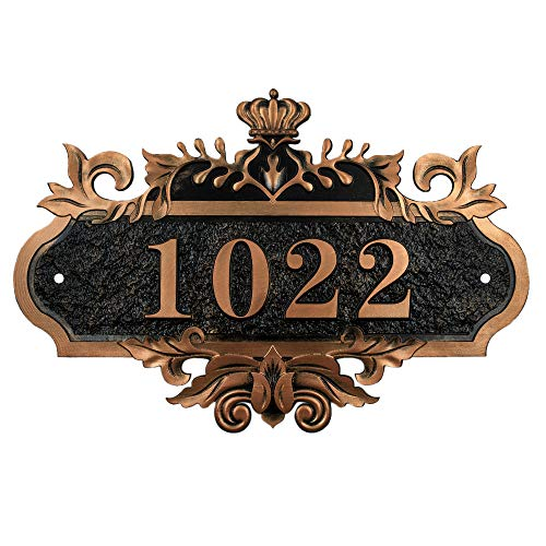 Aspire Plaque De Numéro De Rue personnalisé - Plaque de Maison, Numéro Chiffres Vintage Numéro De Maison, Plaque Gravée À pour Bureau Domicile Hôtel, chiffres ou lettres personnalisés