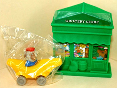 "Bananas Gorilla Toy Vehicle and Grocery Store Play Building - 1995 McDonald's Happy Meal Toy ""The Busy World of Richard Scarry"" Series"
