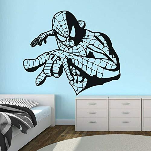 Tianpengyuanshuai Spider Hero Vinyl Dekoration Abnehmbarer Wandaufkleber 87X100cm