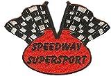 Speedway - Toppa con motivo bandiera del bersaglio, 2 colori