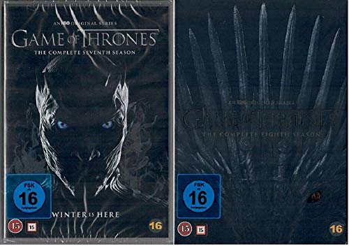 Game of Thrones Staffel 7+8 [DVD Set] [EU Import mit Deutscher Sprache]