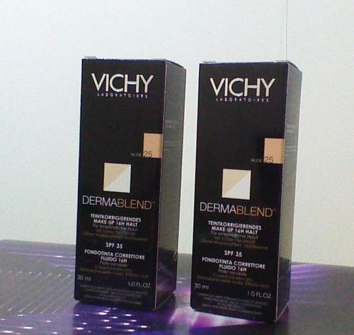 2 CONFEZIONI VICHY Dermablend fondotinta correttore 25 nude 30ml