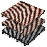 casa pura® WPC Terrassenfliesen Prestige | klick Fliese in Holz Optik | einzeln oder im Set | 30x30 cm | anthrazit (1 Stück)