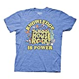 Ripple Junction Schoolhouse Rock Heather Blue T-Shirt, Unisex Shirt for Adults