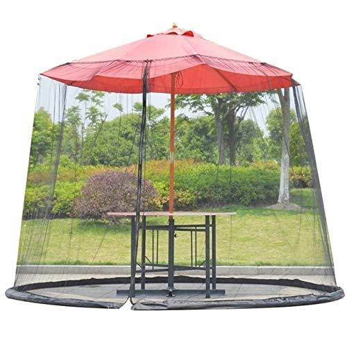 DXYSS Paraguas Mosquitera para Gazebo – Jardín Exterior Pantalla Sombrilla for el Patio de la Cubierta Mosquitero de Tabla de Patio Muebles de Malla con Cremallera