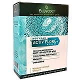 ACTIV'FLORE+ :15 Probiotiques+2 Prébiotiques (FOS+INULINE)+ 2 Vitamines (B+D),Immunité,Flore intestinale+Fibre alimentaire/Complément alimentaire Bio,Vegan, Detox, Constipation,Colon irritable