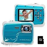 Kids Camera, 21MP HD 3M Waterproof Digital Camera for Kids, 2.0 Inch LCD
