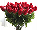 Lot de 10nouvelle belle Real Touch Rose Latex fleurs artificielles pour décoration de maison mariage Salon Bouquet florale de cadeau de Noël